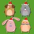 Chubby Pet Christmas Set