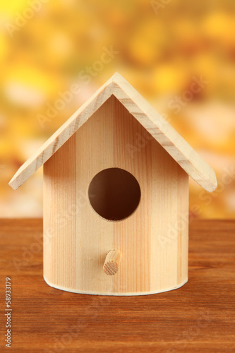 Nesting box on bright background
