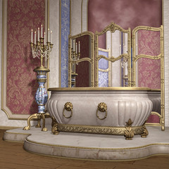 Luksusowa wanna z lustrem