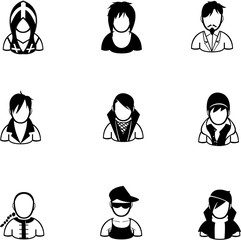 silhouette of people icon created in vector format
