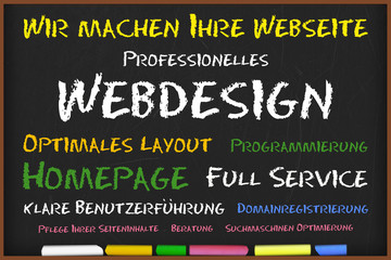 Kreidetafel Webdesign