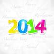carte format carré : bonne année 2014   (cs5)