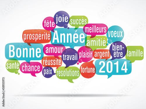 nuage de mots bulles : bonne année 2014 (cs5)