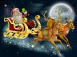 Santa Claus Sleigh Scene