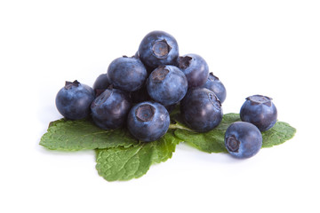 Blueberry on mint