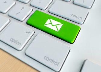 Mail concept - Mail icon on keyboard button