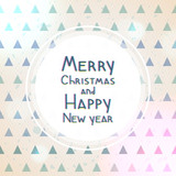 Christmas and New year geometric greeting card