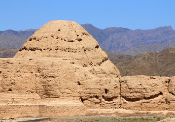Imperial Tombs of Western Xia in Ningxia province of China