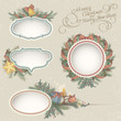 Christmas Drawn Frames in Vintage Style