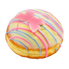 Donut with pink butterfly