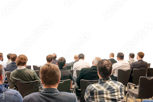 people sitting on the business conference isolated on white