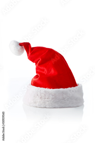 Santa hat, left strong sloped