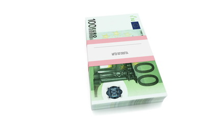 Packet of 100 Euro bills