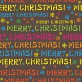Merry Christmas text seamless pattern