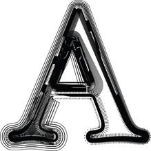 Font illustration LETTRE A