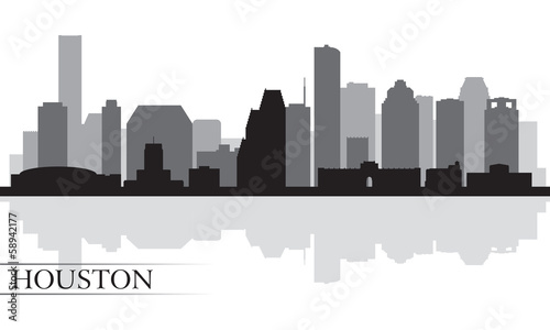Houston city skyline silhouette background