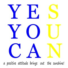 a positive attitude brings out the sunshine in life