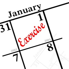 new year resolution come january first  EXERCISE!