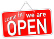 we are open come in  #131201-svg01