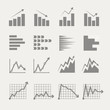 Graphic business ratings and charts collection. infographic elem
