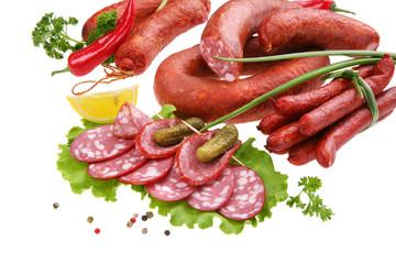 Fresh smoked sausages