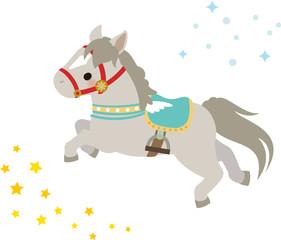 メリーゴーランドのような馬