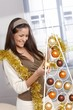 Woman doing design christmas decoration
