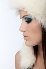Profile of winter beauty