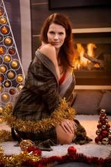 Sexy woman at christmas
