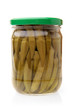 Preserved okro in glass jar
