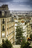 Apartment buildings in Paris