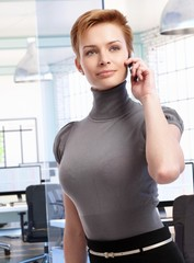 Businesswoman on the phone at office