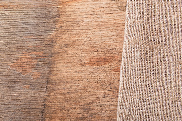 Background of old wood and old cloth