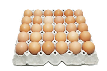 background of carton box of eggs