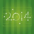 2014 soccer strategy plan vector