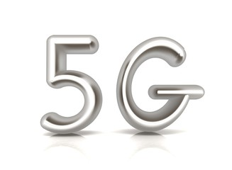 5g modern internet network. 3d text