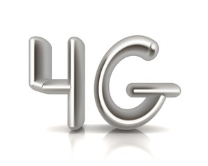 4g modern internet network. 3d text