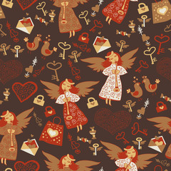 Romantic cute magic background for wallpapers,