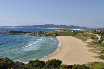 landscape of the southern beaches of the Rias Baixas, Spain