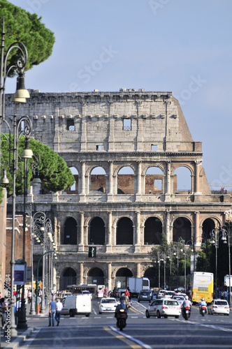 Via deiFori Imperiali street the center of Rome, to the Coliseum