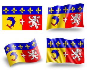Flag of Rhône-Alpes Region