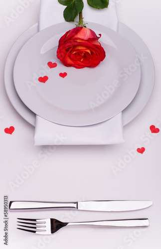 Restaurant table for Valentines Day