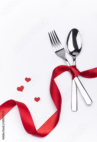 Celebration set with fork and spoon - 58950744