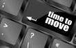 words Time to move on keyboard key