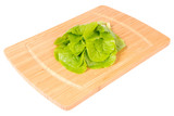 Kitchen board whith salad (Clipping path)