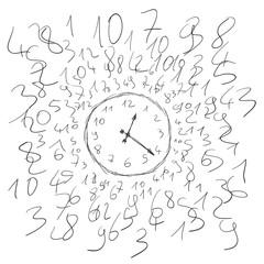 orologio e numeri