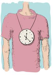 orologio al collo