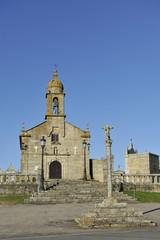 San Vicente de O Grove church in Rias Baixas, Galicia, Spain