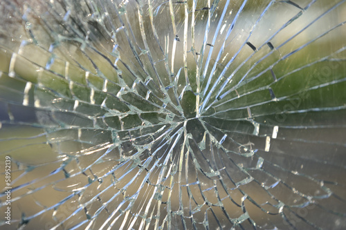 real broken glass background