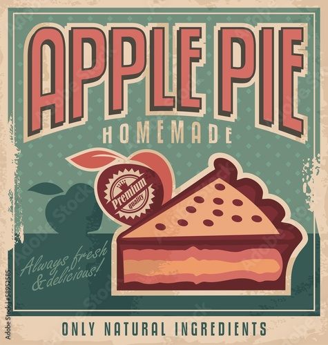 Vintage poster design for homemade apple pie